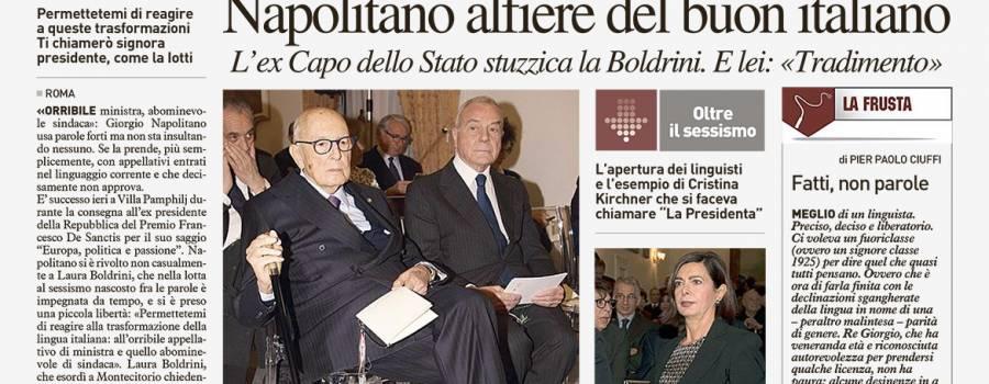 Sesta edizione del Premio De Sanctis – Rassegna stampa